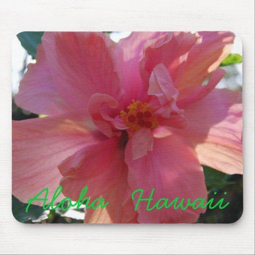 Rosa Hibiskus in Hawaii Mauspads