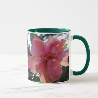 Rosa Hibiskus in Hawaii Tasse
