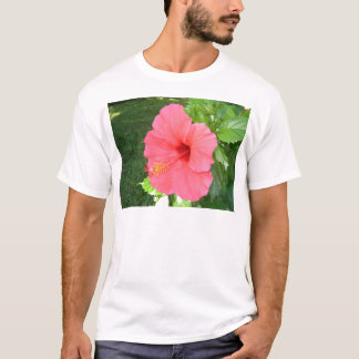 Rosa Hisbiscus Blume T-Shirt