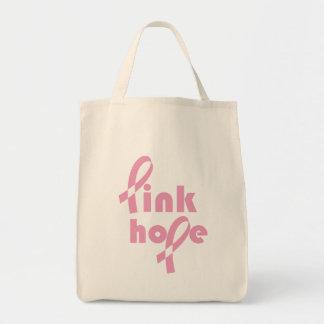 Rosa Hoffnungs-Band Leinentaschen