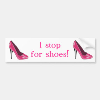 Rosa hohe Fersen-Schuh-Autoaufkleber