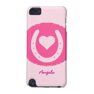 rosa Hufeisen und Herz iPod Touch 5G Hülle