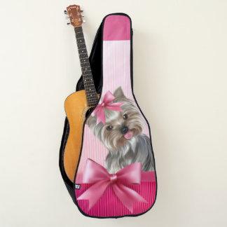 Rosa Hündchen Yorkshire-Terrier Prinzessin-Yorkie Gitarrentasche