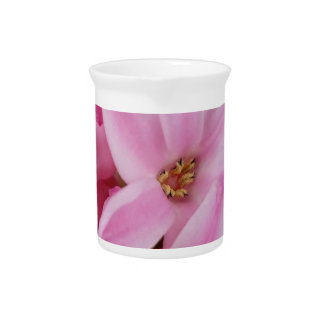 rosa Hyazinthen-Blume Getränke Pitcher