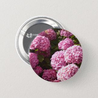 Rosa Hydrangea-Blume Runder Button 5,7 Cm