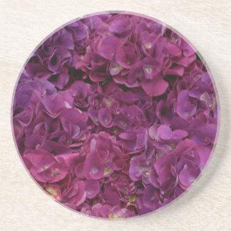Rosa Hydrangea-Blumen Getränkeuntersetzer