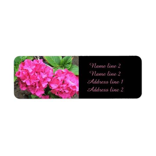 Rosa Hydrangeahochzeits-Adressen-Etiketten