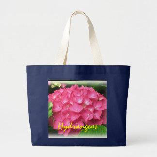 Rosa Hydrangeas-Tasche Jumbo Stoffbeutel