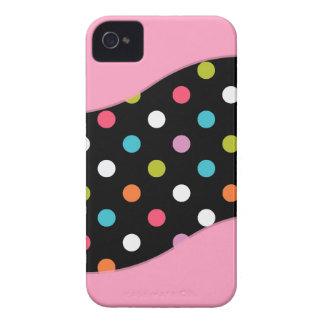 Rosa iPhone 4 Polka-Punkt-Hüllen iPhone 4 Case-Mate Hüllen