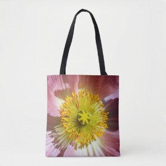 Rosa isländische Mohnblume Tasche