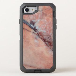 Rosa italienischer Marmor mit Fehler OtterBox Defender iPhone 8/7 Hülle