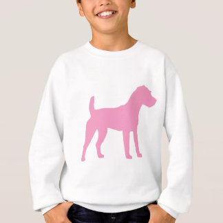 Rosa Jack-Russell-Terrier-Silhouette Sweatshirt
