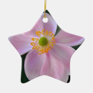 Rosa japanische Anemonen-Blume Keramik Ornament