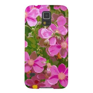 Rosa japanische Anemonen-Blumen Samsung Galaxy S5 Hülle