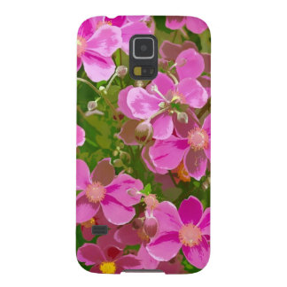 Rosa japanische Anemonen-Blumen Samsung S5 Cover