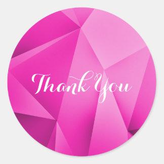 Rosa Juwel-Töne danken Ihnen Aufkleber