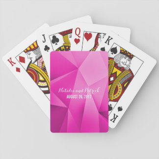 Rosa Juwel tont Hochzeits-Spielkarten Pokerkarte