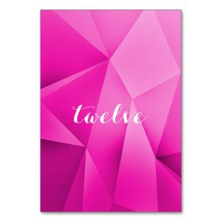 Rosa Juwel tont Tischnummer-Karte