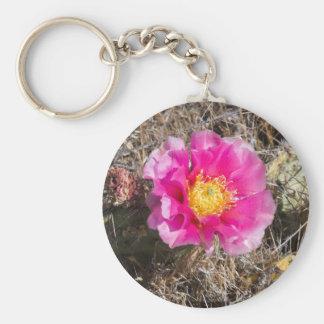 Rosa Kaktusfeige-Schlüsselring Schlüsselanhänger