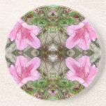 Rosa Kaleidoskop 3 der Azaleen 1E Getränkeuntersetzer