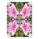 Rosa Kaleidoskop 6 der Azaleen 1E 12,7 X 17,8 Cm Einladungskarte