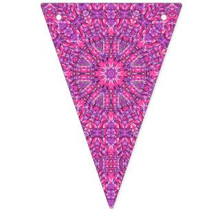Rosa Kaleidoskop-Flaggen-Flaggen n lila Vintage Wimpelketten