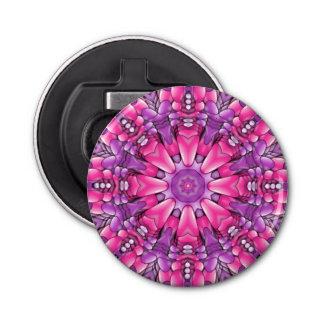 Rosa Kaleidoskop-Flaschen-Öffner   n lila Runder Flaschenöffner