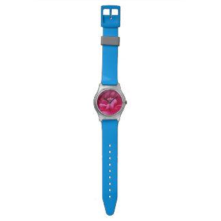 Rosa Kamelien-Blumen-nahes hohes Armbanduhr