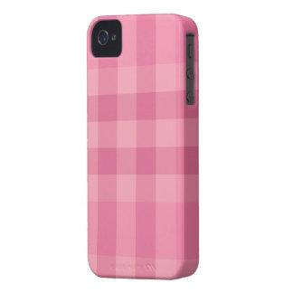 Rosa karierter Entwurfs-Muster-BlackBerry-Kasten iPhone 4 Hülle