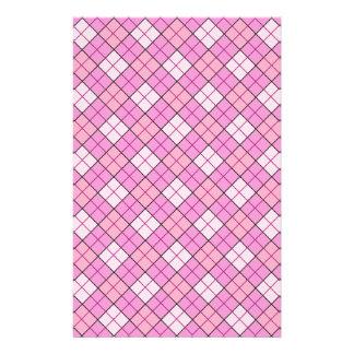 Rosa kariertes Handwerks-Papier Briefpapier