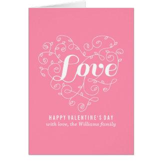 Rosa Karten Liebe| Valentines Tages