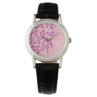 Rosa Käse-Uhr des Mac-N Armbanduhr