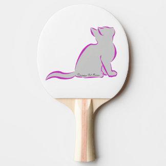 Rosa Katze, graue Fülle, innerer Text Tischtennis Schläger