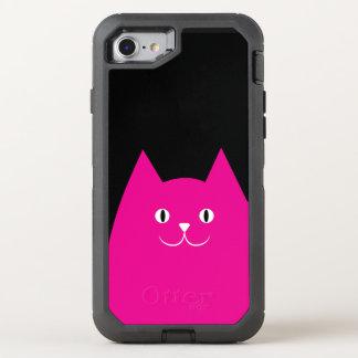 Rosa Katze OtterBox Defender iPhone 8/7 Hülle