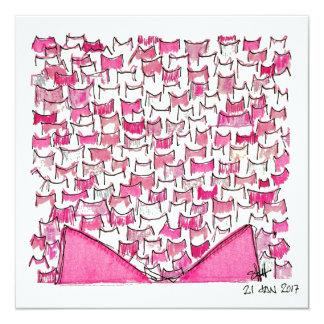 Rosa Katzen-Ohr-flache Karte
