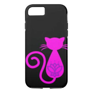 Rosa Katzen-Silhouette iPhone 8/7 Hülle
