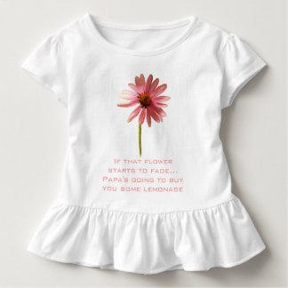 Rosa Kegel-Blume, wenn diese Blume beginnt zu Kleinkind T-shirt