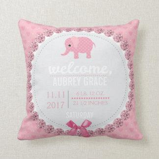 Rosa Kinderzimmer-Elefant der Kissen