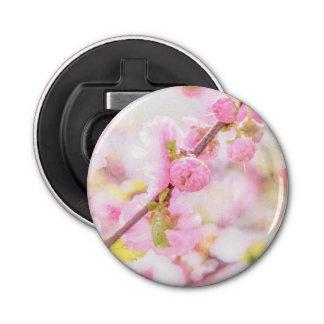 Rosa Kirschblüte-Blumen - japanische Kirschblüte Runder Flaschenöffner