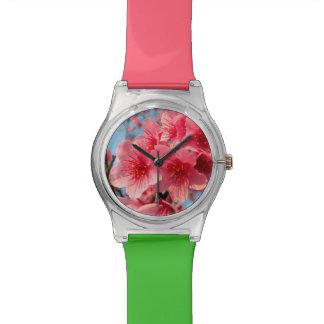 Rosa Kirschblüte-Kirsche Armbanduhr