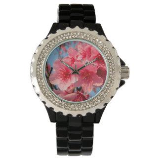 Rosa Kirschblüte-Kirsche Uhr