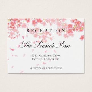 Rosa Kirschblüten, die Empfangs-Karte Wedding sind Visitenkarte