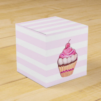 Rosa Kirschkuchen-Kasten Geschenkschachtel
