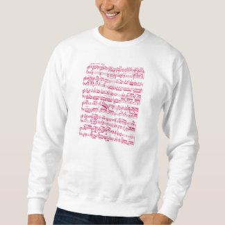 Rosa klassische NeonNoten (Beethoven) Sweatshirt