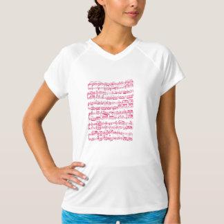 Rosa klassische NeonNoten (Beethoven) T-Shirt
