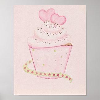 Rosa kleiner Kuchen 8 x Druck 10 Poster