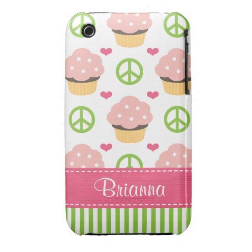 Rosa kleiner Kuchen iPhone 3 Case-Mate kaum dort iPhone 3 Covers
