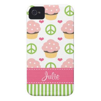 Rosa kleiner Kuchen iPhone 4 Case-Mate-kaum dort A