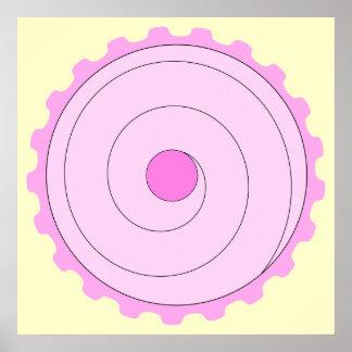Rosa kleiner Kuchen Poster