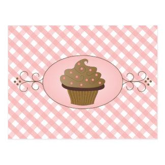 Rosa kleiner Kuchen Postkarte